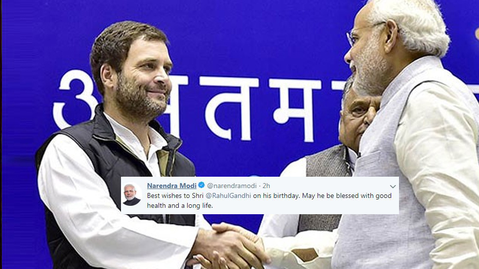 Prime Minister Modi wishes Rahul Gandhi on his birthday