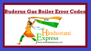 Buderus Gas Boiler Error Codes