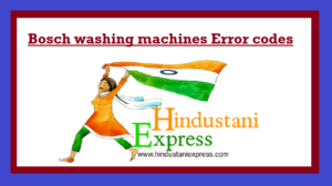 Bosch washing machines Error codes