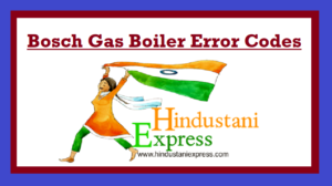 Bosch Gas Boiler Error Codes
