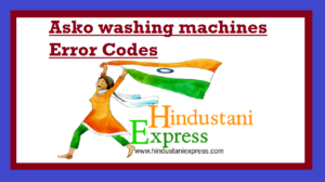 Asko washing machines Error Codes