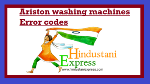 Ariston washing machines Error codes