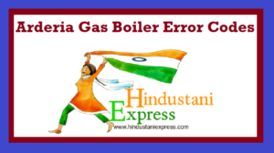 Arderia Gas Boiler Error Codes
