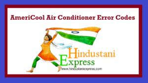 AmeriCool Air Conditioner Error Codes