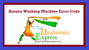 Amana Washing Machine Error Code