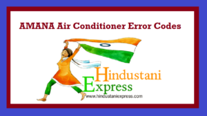 AMANA Air Conditioner Error Codes