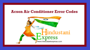 Acson Air Conditioner Error Codes