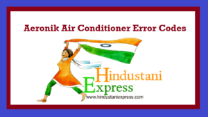 Aeronik Air Conditioner Error Codes