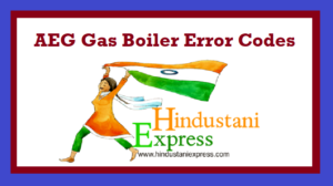 AEG Gas Boiler Error Codes