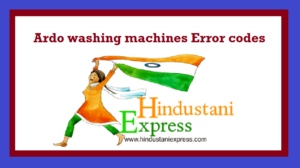 Ardo washing machines Error codes
