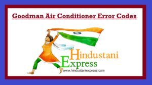 Goodman Air Conditioner Error Codes