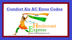 Comfort Air AC Error Codes