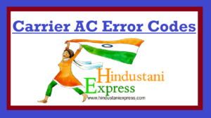 Carrier Air Conditioner Error Codes
