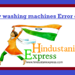 Candy washing machines Error codes